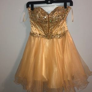 Gold home coming dress